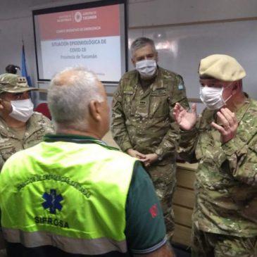 Visita del Comandante Conjunto de la Zona de Emergencia Salta, CM Castelli