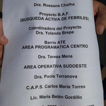 Campaña Testeos Febriles en Barrios Vulnerables – 30 Jun