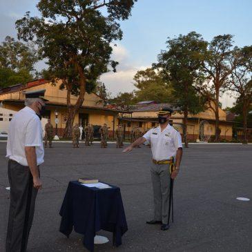 """Ceremonia de Relevo de Subdirector y Jefe de Cuerpo de Cadetes Liceo Militar """"Grl Araoz de Lamadrid""""."""